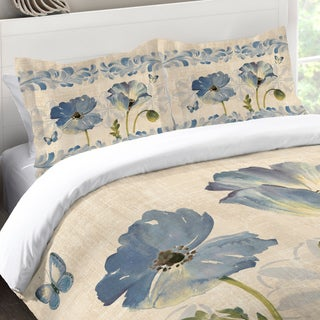 Laural Home Blue Poppies Standard Pillow Sham