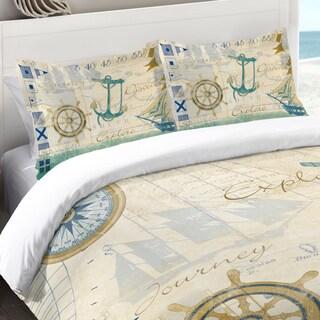 Laural Home Nautical Journey 200 TC Cotton Standard Pillow Sham