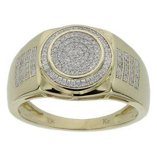Men's 10k Yellow Gold 1/4ct TDW Diamond Ring (GH- I2-I3)