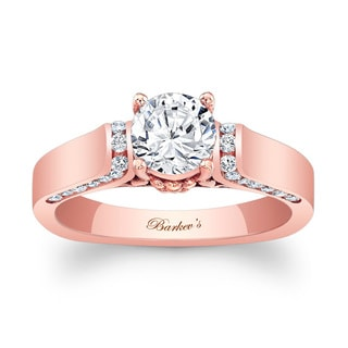 Barkev's Designer 14k Rose Gold 1 1/3ct TDW Diamond Engagement Ring (F-G, SI1-SI2)