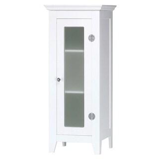 Modern White Wooden 3-shelf Cabinet
