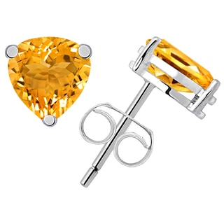 Orchid Jewelry's 2.20ct Genuine Citrine 925 Sterling Silver Stud Earring