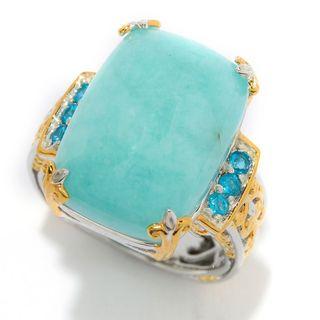 Michael Valitutti Amazonite and Neon Apatite Ring