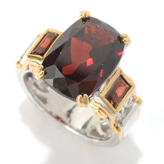 Michael Valitutti Cushion Garnet Ring