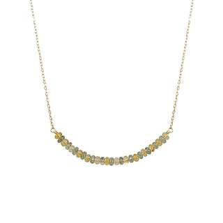 14k Yellow Gold Citrine Bar Necklace