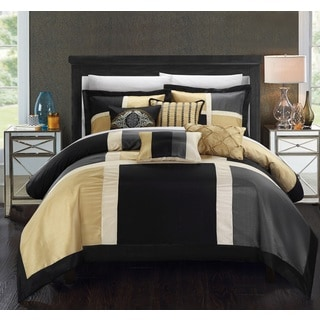 Chic Home Filomena Black 11-Piece Comforter Set