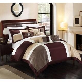 Chic Home Filomena Brown 11-Piece Comforter Set