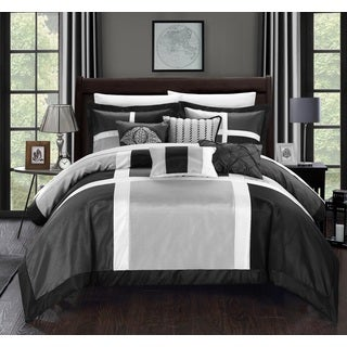 Chic Home Filomena Grey 11-Piece Comforter Set