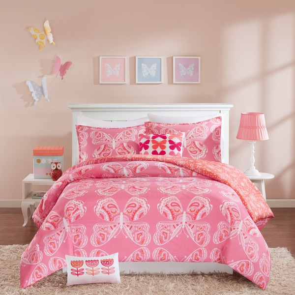 INK+IVY Kids Julia Cotton 4-piece Duvet Cover Set