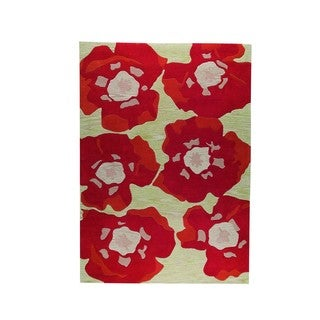 M.A.Trading Hand-Tufted Indo Poppy Orange Rug (4'6 x 6'6'')