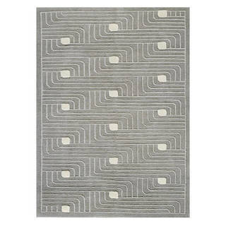 M.A.Trading Hand-Knotted Indo Verona Grey Rug (9'x12')