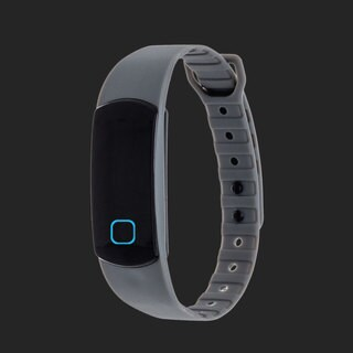 Zunammy Grey Effortless Ultra Light, Waterproof, Fitness and Activity Tracker W/ 30 Day Standby Rechargeable Battery