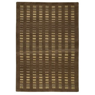 M.A.Trading Hand-Knotted Indo Merano Brown Rug (8'3 x 11'6)