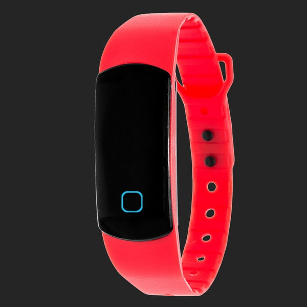 Zunammy Red Effortless Ultra Light, Waterproof, Fitness and Activity Tracker W/ 30 Day Standby Rechargeable Battery
