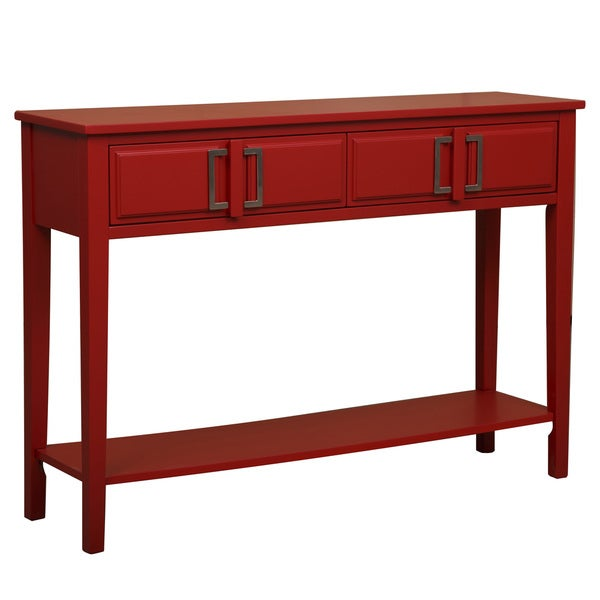Bold Red Console Table