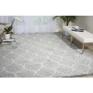 Nourison Galway Light Grey Shag Area Rug (5' x 7')
