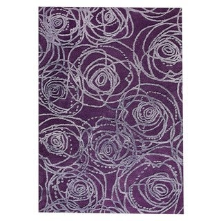 Hand-Tufted Indo Rosa Purple Rug (5'2 x 7'6)