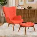 Christopher Knight Home Hariata Fabric Contour Chair with Ottoman Set