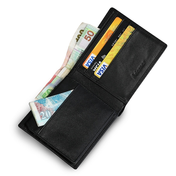 Men's RFID Blocking Ultra Slim Genuine Leather Wallet