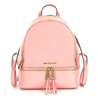 Michael Kors Rhea Pale Pink Zip Small Backpack