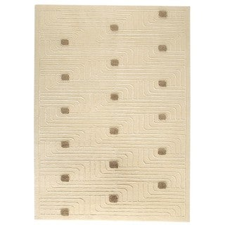 Hand-Knotted Indo Verona White Rug (6'6 x 9'9)