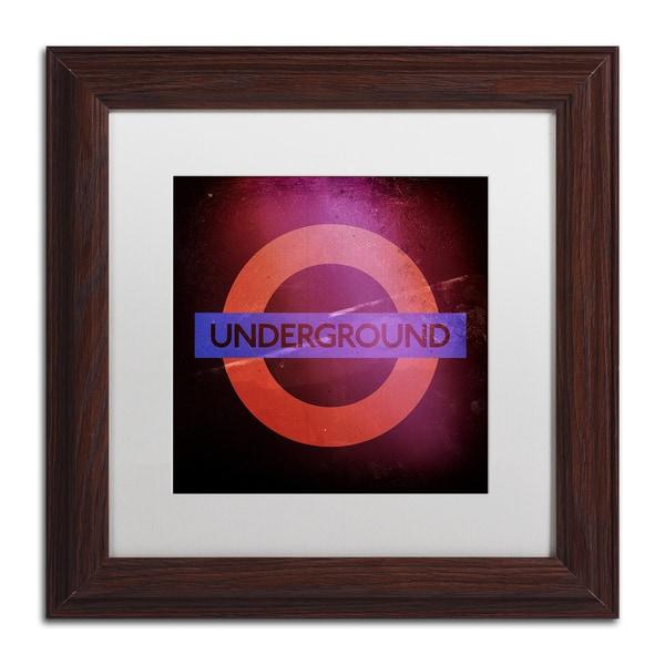 Philippe Hugonnard 'Subway City Art London' Matted Framed Art 17921623
