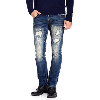 XRAY BlacX Mens Rips Sand Jeans