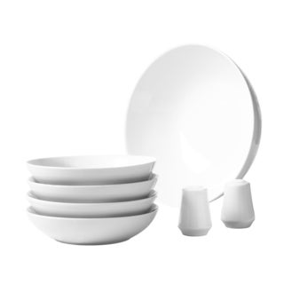 7pc Porcelain Round Pasta Set