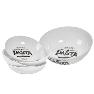 5pc Best In Town Porcelain Round Pasta Set