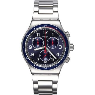 Swatch Men's YVS426G 'Irony SwatchHour' Chronograph Stainless Steel Watch