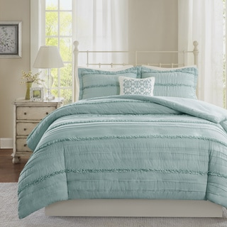 Madison Park Isabella 2-in-1 Blue Duvet Cover/Coverlet Set