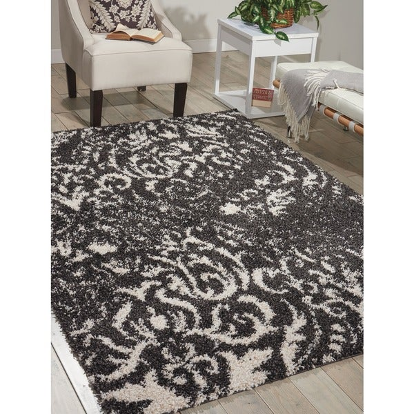 Nourison Brisbane Black/White Rug (5' x 7')