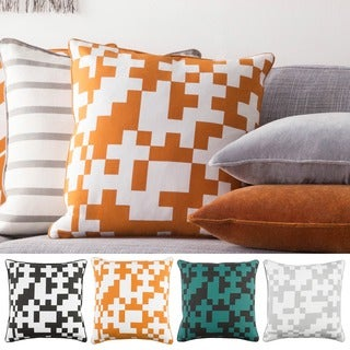 Decorative 18-inch Annes Down or Polyester Filled Throw Pillow