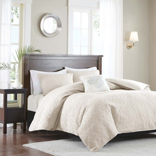 Madison Park Mansfield Ivory 2 In 1 Duvet Cover Coverlet