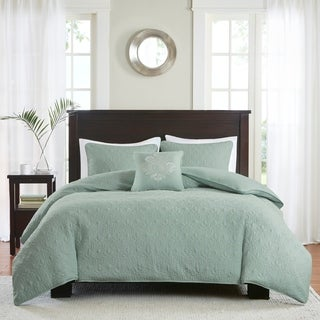 Madison Park Mansfield 2-in-1 Seafoam Duvet Cover/Coverlet Set