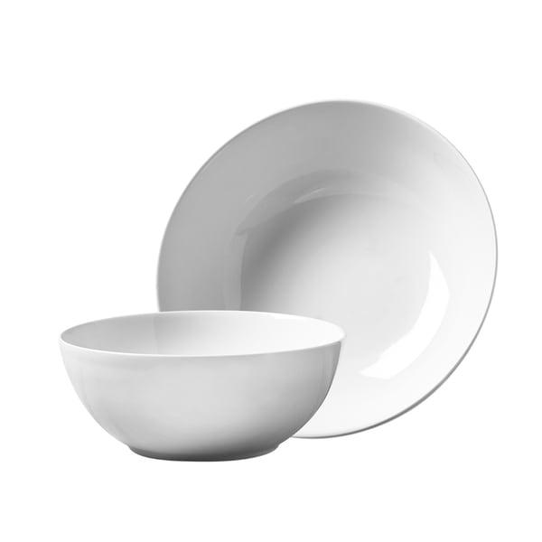 2pc Porcelain Round Serving Set