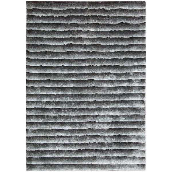 Nourison Urban Safari Chinchilla Shag Area Rug (5'6 x 7'5)