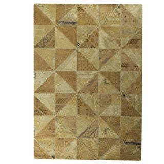 M.A.Trading Hand-Tufted Indo Tile Beige Rug (7'10 x 9'10)