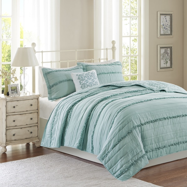 Madison Park Isabella Blue Coverlet Set