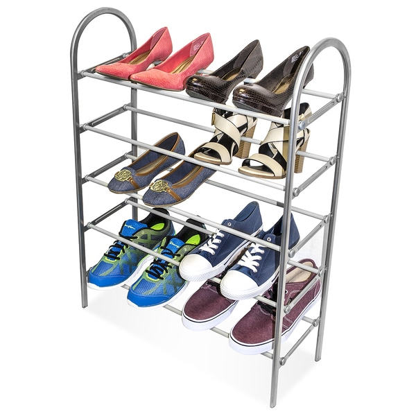 Sorbus Five Level Metal Shoe Rack Organizer