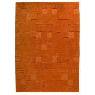 Hand-Tufted Indo Miami Orange Rug (3'x5'4)