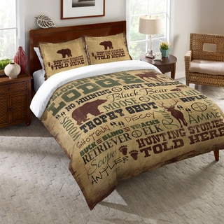 Laural Home Lodge Words Comforter