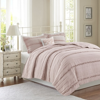 Madison Park Isabella Pink Coverlet Set