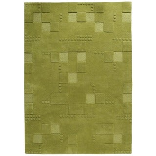 M.A.Trading Hand-Tufted Indo Miami Green Rug (4'6 x 6'6)