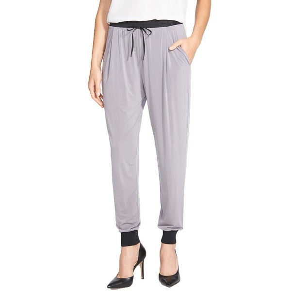 Elie Tahari Grey Presley Jogging Pants with Black Accents