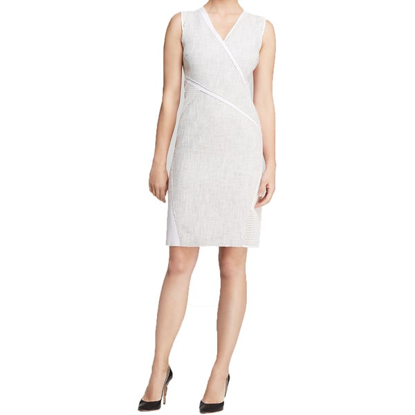 Elie Tahari Maisy Tweed Dress in White
