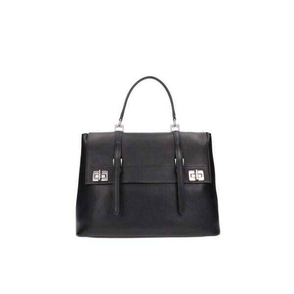 prada pink handbag - Prada Black Saffiano Leather BN2790 Satchel - 18525193 - Overstock ...