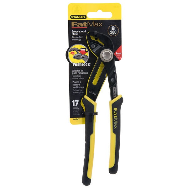 "Stanley Fat Max 84-647 8"" Stanley Fat Max Joint Groove Pliers"
