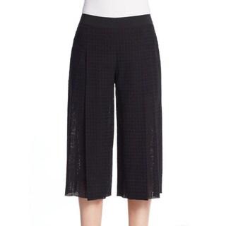 Elie Tahari Wylie Black Cotton Culotte Pants