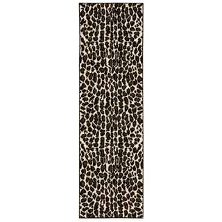 Nourison Studio Ivory/Black Area Rug (2'2 x 7'3)